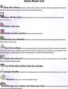 Summer Weekly Cleaning List Free Printable Price List Households And Weekly Chores
