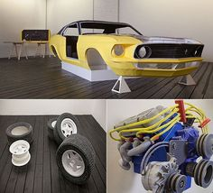 Made out of paper wow! Mustang art!