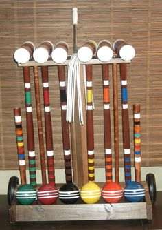 1960s Forster Style Croquet Set by UmanThings on Etsy, $75.00