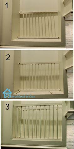 Remodelando la Casa DIY - Inside Cabinet Plate Rack & DIY - Inside Cabinet Plate Rack | Pinterest | Plate racks Tutorials ...