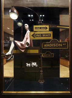 Which Sign Will You Be Following? Coach Window Display by Elemental Design.