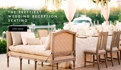 Wedding Reception Seating Ideas | Photography: KT Merry Photography. Read More: http://www.insideweddings.com/news/planning-design/10-wedding-chair-ideas-that-will-add-glamour-to-your-reception/2663/