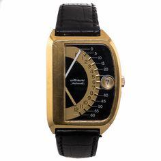Wittnauer Double Retrograde Sector Futurama 1000 Vintage Jump Hour Watch