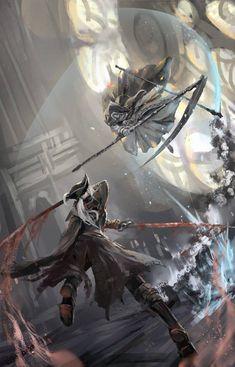 Bloodborne x Dark Souls III, Lady Maria and Sister Friede