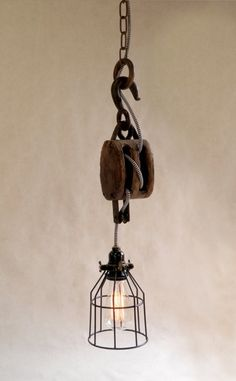 light made with pulley - Google Search