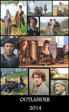 A collage by Louisa Rowe, just great! Outlander Starz pre-show photo's! #outlander
