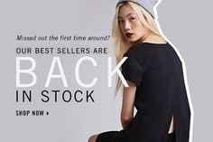 Back in Stock! Shop Now