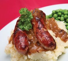 A traditional Irish dish. And the translation? Sausage and mashed potatoes (this recipe features cabbage in the mash!).