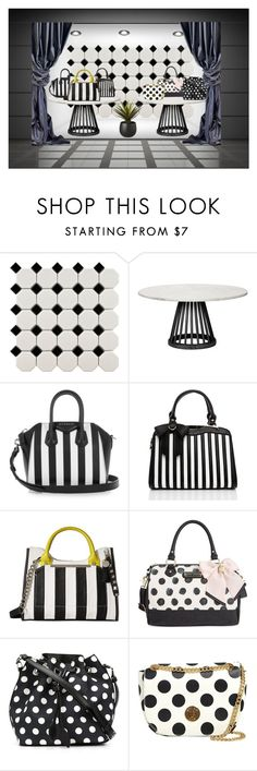 """""""Black and White Bags...Stripes or Dots?"""" by barbarapoole ❤ liked on Polyvore featuring Merola, Tom Dixon, Givenchy, Steve Madden, Betsey Johnson, Rochas, Moschino and CB2"""