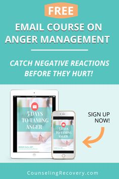 In this 5 day email course, you will learn simple tools to manage anger and other difficult emotions before they cause relationship problems. Know difference between unhealthy andhealthy anger, identify anger cues and the effects on the body. Once you learn the tools to catch anger early, you can prevent it from becoming abusive. Sign up with your name nad email and get started today! #anger #frustration #stress #calm
