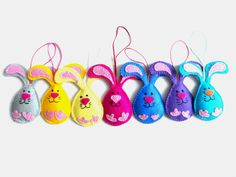 Felt Easter decorations Easter ornaments Easter Bunny decorations Easter home ornaments Spring hanging ornament. $10.00, via Etsy.