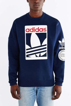 872b419fe8 adidas Originals Box Trefoil Graphic Sweatshirt