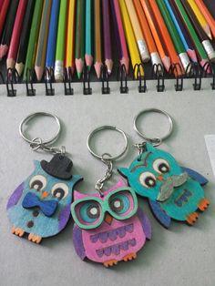 Cute owl keyrings😍