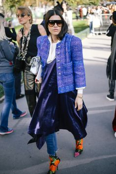 If you haven't tried a dress over denim yet, let this convince you