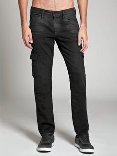 GUESS Men's Fairfax Skinny Cargo Jeans in Quarantine, QUARANTINE WASH (30) $128.00 #GUESS #Pants #Shorts