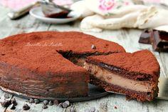 Torta versata al cacao con mascarpone e nutella