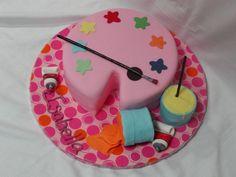 painter's palette cake