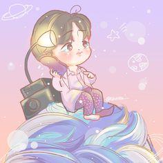 Kim Hanbin, Ikon, Storytelling, Chibi, Fairy Tales, Fan Art, Draw, Cute, Anime