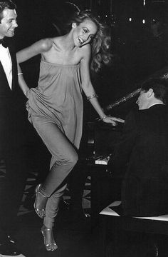 This makes me so happy I can't even - Jerry Hall in Halston, 1970's. @thecoveteur