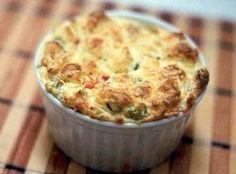 Suflê de Legumes - Esta receita de suflê de legumes é muito simples de preparar. É excelente para uma entrada rápida e muito gostosa. Experimente.