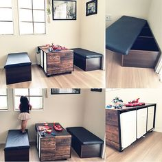 Color Box, Home Office, Diy And Crafts, Home Improvement, Shelves, Interior Design, Storage, House, Furniture