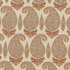 ~ Michael S. Smith - Kashimir hemp fabric in Marigold Textile Pattern Design, Art Deco Pattern, Motif Design, Print Patterns, Paisley Art, Paisley Fabric, Paisley Design, Textiles, Textile Prints