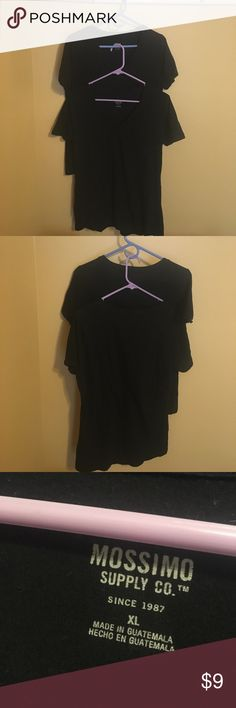 Bundle of 2 plain black tees!! Good condition! Set of 2 of the exact same shirt. Very soft material. Perfect staple for any closet! Mossimo Supply Co. Tops Tees - Short Sleeve