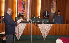 EkpoEsito.Com : Photos of Chief Justice Onnoghen taking oath of of...