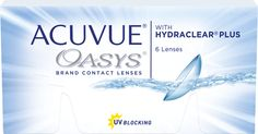 ACUVUE® OASYS® (Available in Sphere, Toric and Multifocal) This top of the line contact lens features second generation HYDRACLEAR® PLUS Technology to provide comfort all day long—even in challenging environments that can make eyes feel tired and dry.