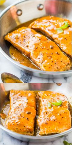 Maple Barbeque-Glazed Salmon - The glaze is smoky and sweet with a bit of heat & makes this 15 minute recipe just pop!