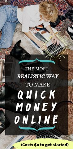 how to make money online quickly & honestly (very good for side hustles and busy moms)