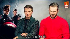 "Renner's just like, ""wth, man? You're a grown man!"""