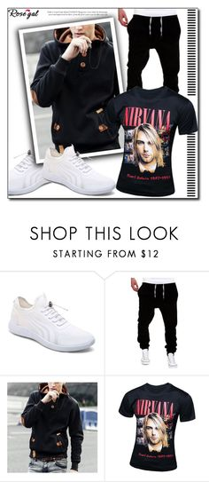 """Rosegal"" by man0lya ❤ liked on Polyvore featuring men's fashion and menswear"