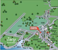 Ilustração mapa de Localização - - Feita em Adobe Illustrator