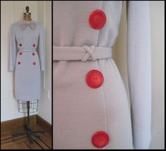 Super SASSY Grey & Red LIBRARIAN Bow Tie Dress by FASHIONRERUN, $68.00