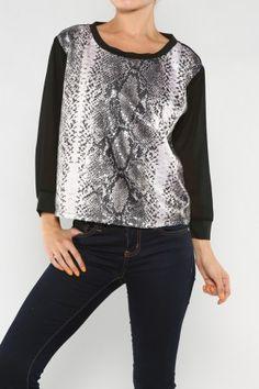 Sequin Animal Top #salediem wants you to ROAR!Enjoy your #animalprint #fall#fashion Shipping is FREE!