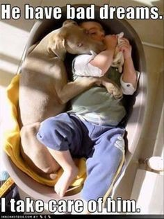 I hope Buster and Wyatt take care of each other like this!
