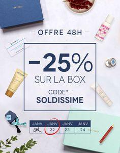 Offre 48H ! La box de janvier à -25%