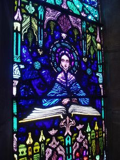 saint Book stained glass