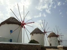 Mykonos Greece - windmills