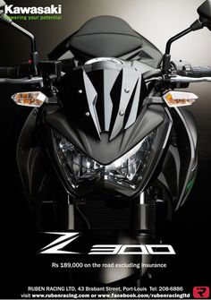 RUBEN RACING LTD - Kawasaki Z300 Now Available in Mauritius ! Info: 208 6886