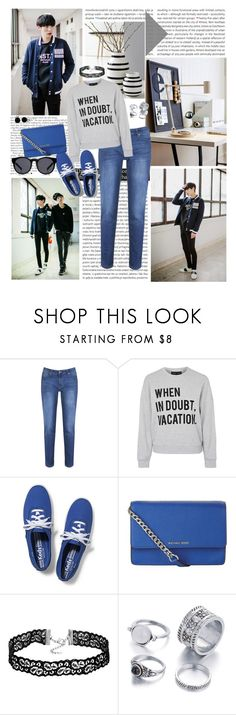 """""""I feel good"""" by angiielf ❤ liked on Polyvore featuring Oris, Kähler, Brakeburn, Topshop, Keds, MICHAEL Michael Kors and Bling Jewelry"""