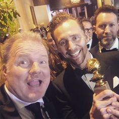 "frankfastner: ""partying with Golden Globe Winner Tom Hiddleston: probably one of the nicest guys in Hollywood #goldenglobes #tomhiddleston #mrniceguy #frankfastner #awardseason #thenightmanager"" https://www.instagram.com/p/BPCe6TkgAU6/"