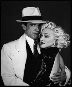 "Madonna & Warren Beatty in ""Dick Tracy"""