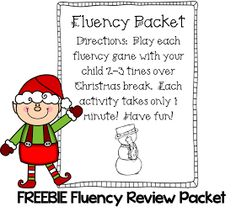 http://www.teacherspayteachers.com/Product/Christmas-Fluency-Packet-FREEBIE-995455