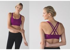 Energy bra, sz 10, regal plum, $48 ($39 on MD).  ・designed for: yoga ・fabric(s): Luxtreme® ・support: this bra is intended to provide medium support for a C/D cup