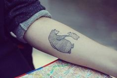bear tattoo - cool idea for a sibling dedication