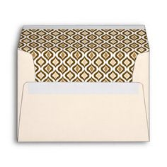 Caramel Coffee Brown Retro Chic Ikat Drops Pattern Envelope - stylish gifts unique cool diy customize
