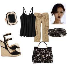 Khaki Capris by hramabile on Polyvore | Fashion | Pinterest ...