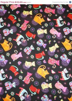 Cool Cats By Debi Hron For Henry Glass Fabrics, By The Yard, 44/45 Inches Wide